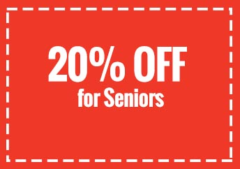 20% Off For Seniors